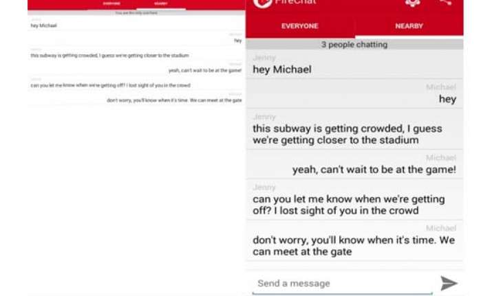 firechat for android launched lets users chat without a