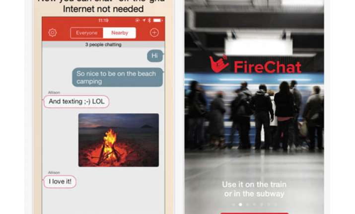firechat lets you chat without a data connection