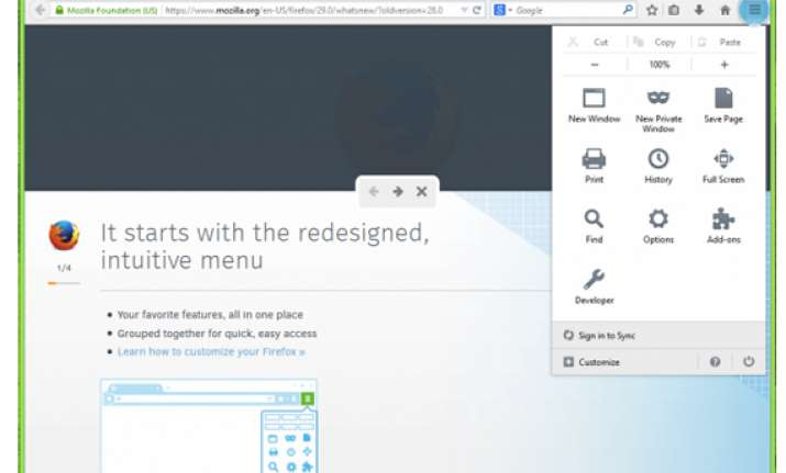 mozilla revamps firefox browser with custom options and a