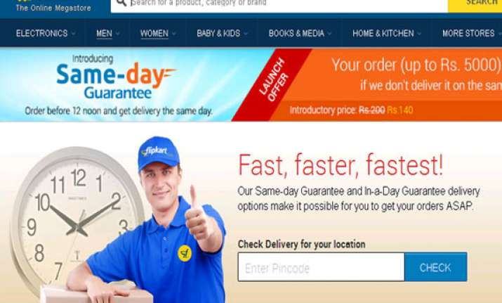 flipkart launches same day guarantee scheme