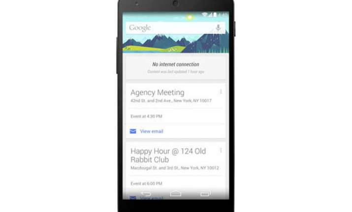 google now cards remain on display even when offline