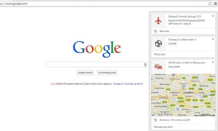 google now rolls out to desktop versions of chrome