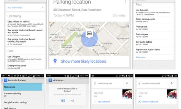 google now update lets you know where you parked your car