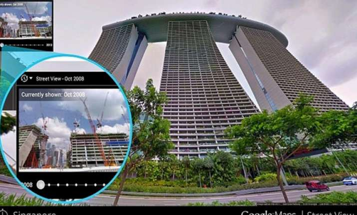 google street view gets a time travel mode