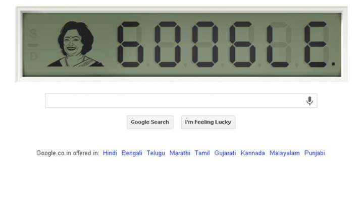 Google doodle celebrates 84th birthday of Shakuntala Devi