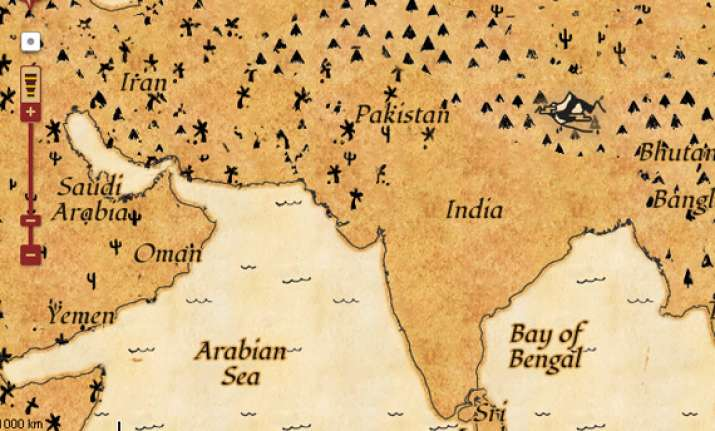 Latest India Map.Find Treasure With Google S New Treasure Map India News India Tv