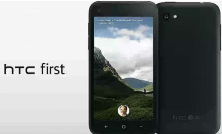 htc first the first facebook home phone launched for rs 25