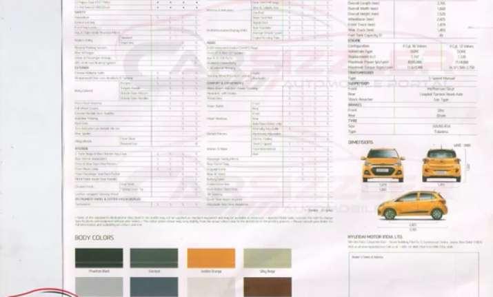 hyundai grand i10 brochure reveals tech specs colours and