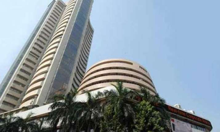 sensex surges 218 pts in early trade on positive global cues