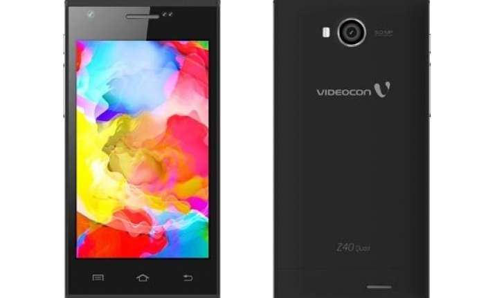 videocon infinium z40 quad launched at rs 5 490