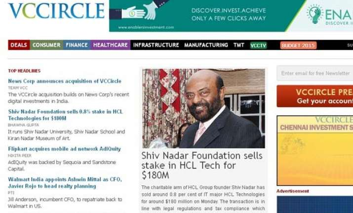 news corp buys indian media firm vccircle