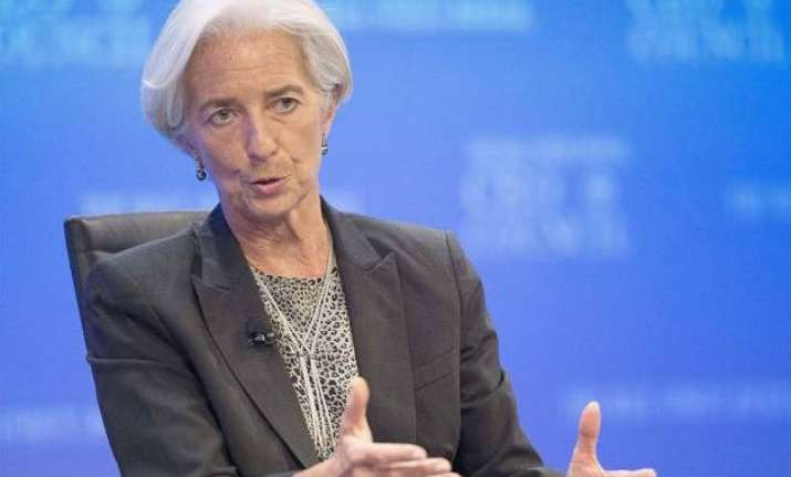 imf chief says india growth bright spot
