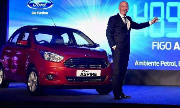 in pics ford launches figo aspire starting at rs 4.9 lakh