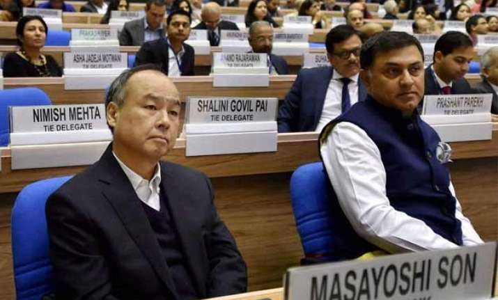 japan s softbank betting on india to raise investment