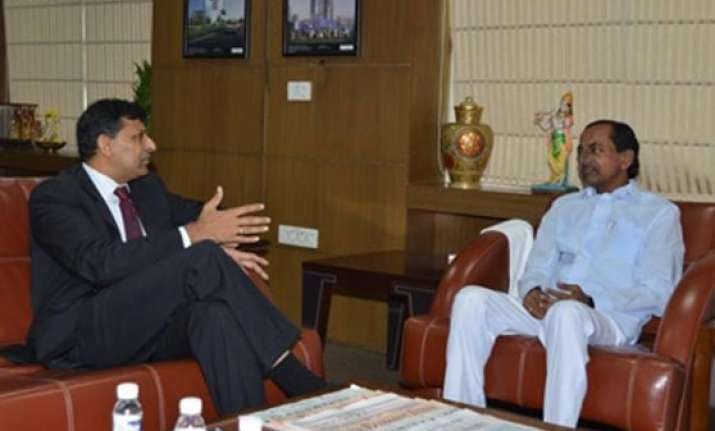 rbi governor promises telangana cm to look into fresh farm
