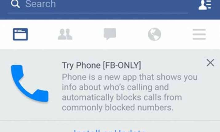 facebook testing phone caller id app for android reports