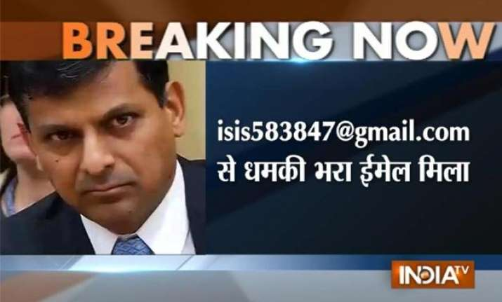 rbi governor raghuram rajan receives threat mail from isis