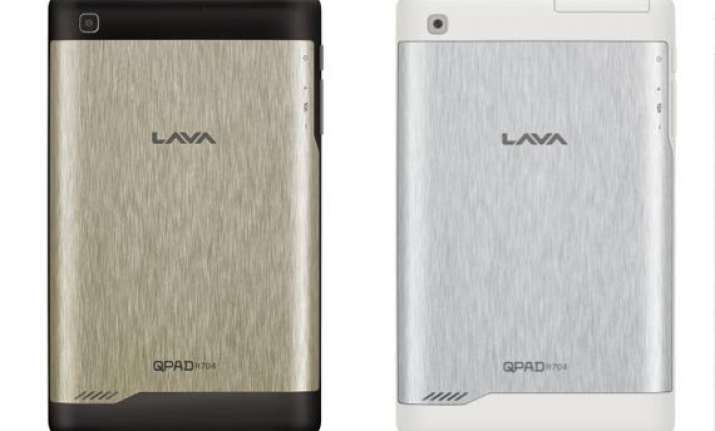 lava launches qpad r704 voice calling tablet at rs 8 499