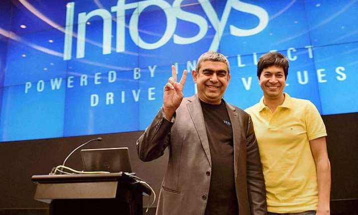 infosys profit up 5 raises sales forecast for fy 16