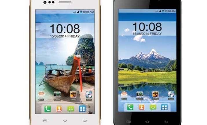 intex aqua 4.5e and aqua q1 with android 4.4.2 kitkat