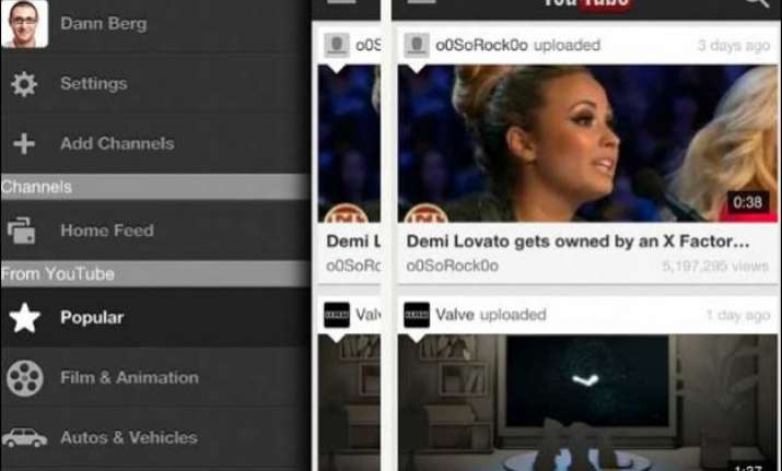 youtube renovates app with vertical video