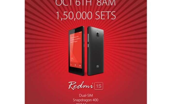 xiaomi offering 150 000 units of redmi 1s on sale at