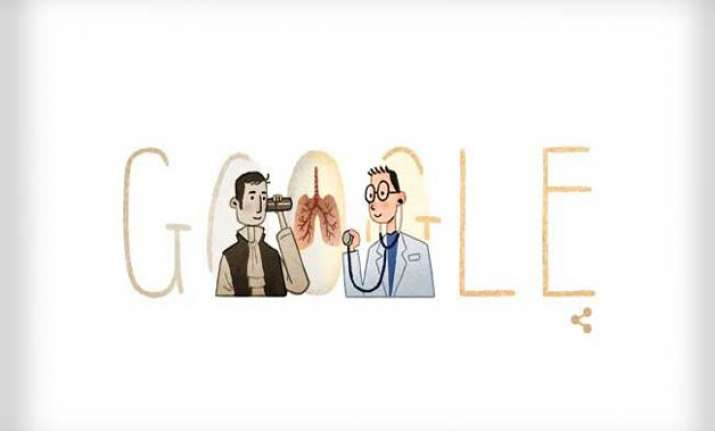 google doodle pay tribute to stethoscope inventor ren