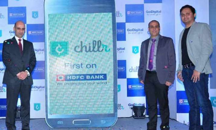 hdfc bank launches chillr money transfer app for android