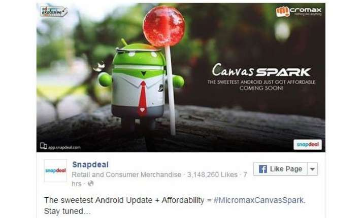 micromax canvas spark with lollipop os to be launched on