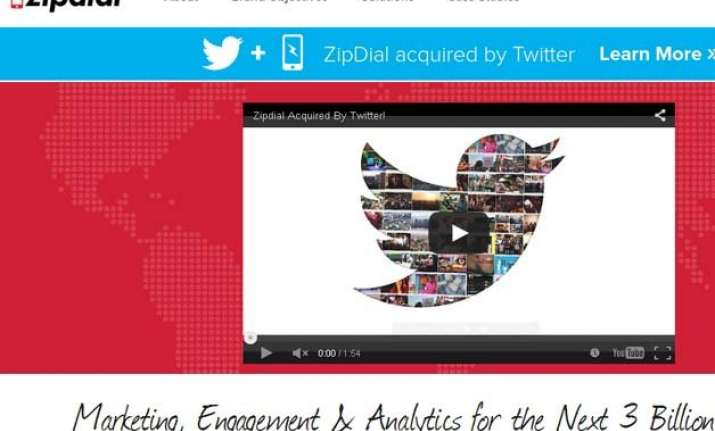 twitter acquires indian start up zipdial