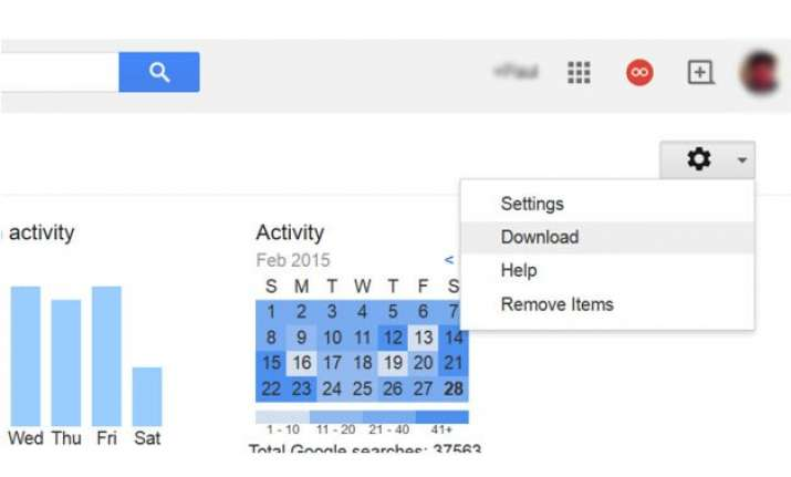 google now allows you to download entire search history