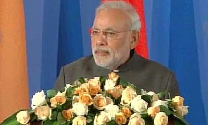 pm modi calls for harmonious partnership between india