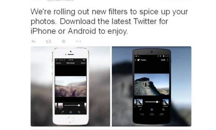 twitter adds its own instagram like photo filters