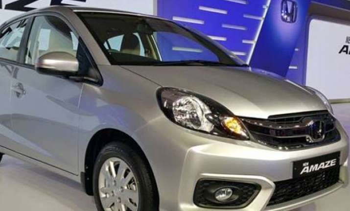 honda launches new amaze priced up to rs 8.19 lakh see