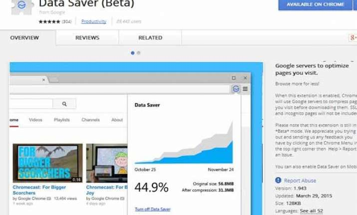 google chrome s data saver feature now available for