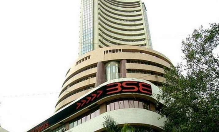 sensex gives up early gains trips 27 pts