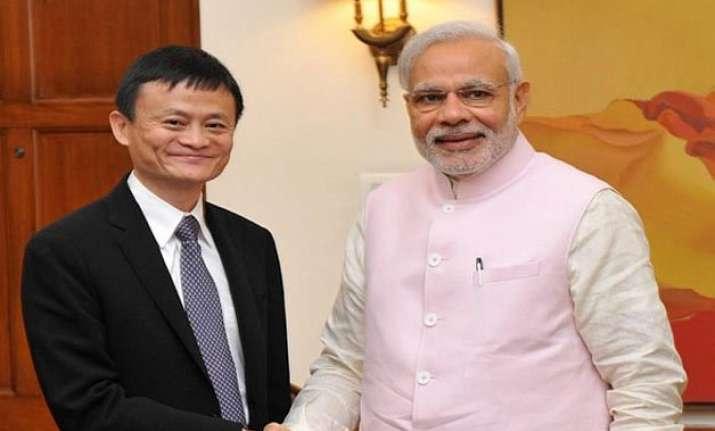 alibaba will help small business jack ma tells modi
