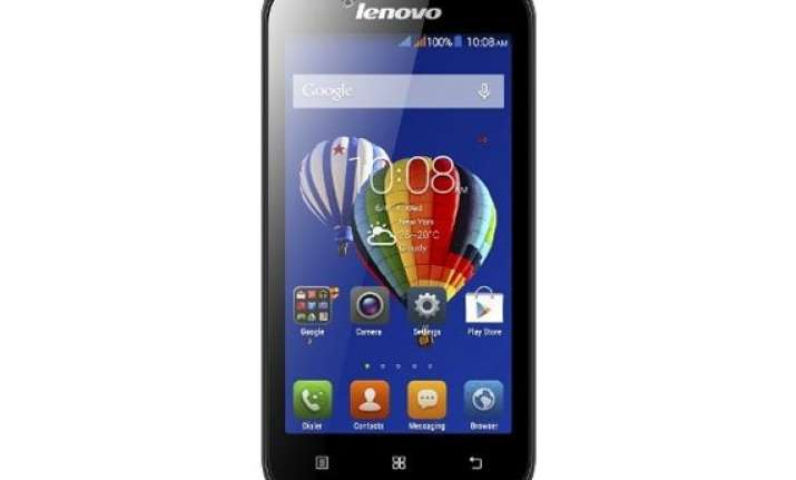 lenovo a328 with android 4.4 kitkat launched at rs 7 299