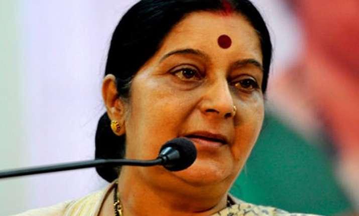 sushma swaraj invites diaspora to invest in india