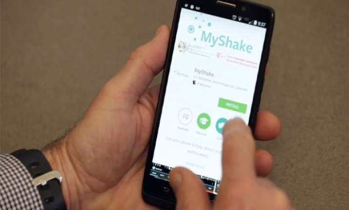 android app myshake turns phones into an earthquake detector