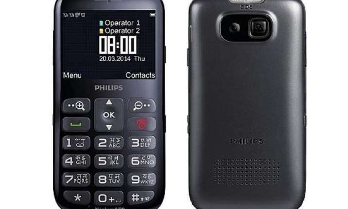 philips xenium x2566 for senior citizens launched at rs 3