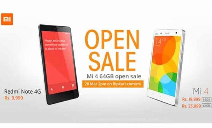xiaomi mi 4 64gb now available for open sale