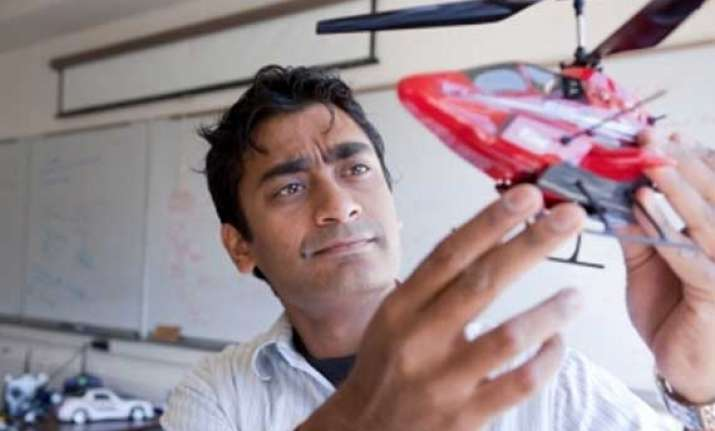 indian american designs smart flying robot to help in