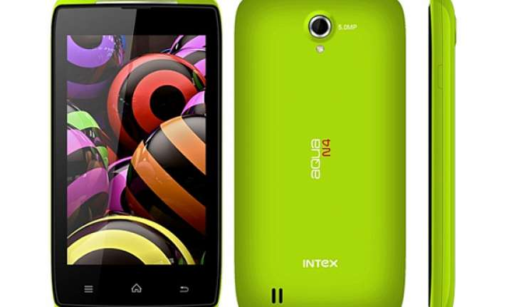intex aqua n4 with 3g support listed on company s website