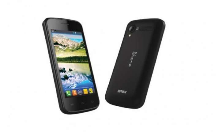 intex cloud y12 3g android smartphone launched at rs 5 390