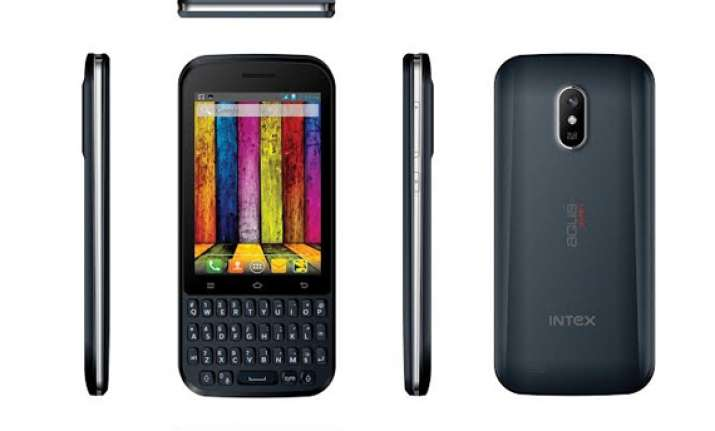 intex launches touch and type dual sim 3g smartphone at rs