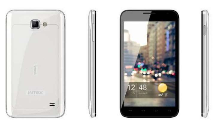intex aqua 5.0 with dual core processor unveiled for rs 9
