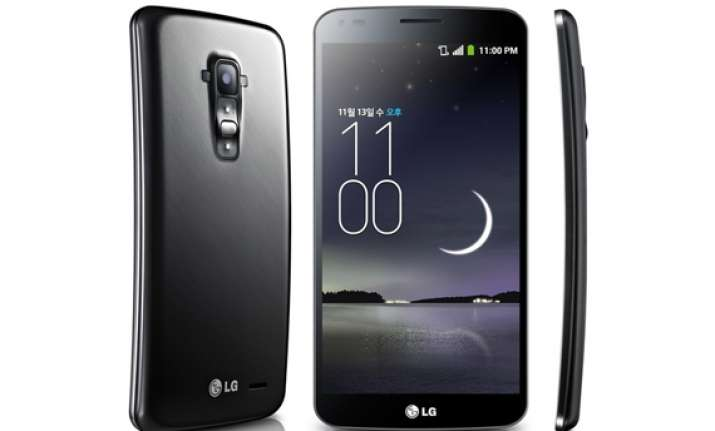 lg announces g flex the world s first real curved smartphone