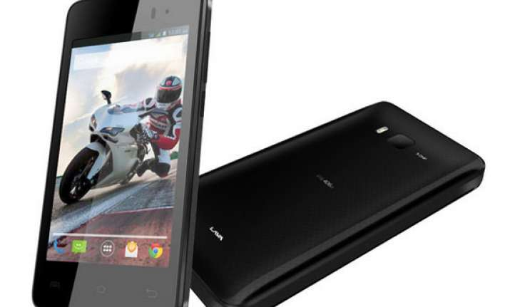 lava iris 406q with android kitkat upgrade launched at rs 7