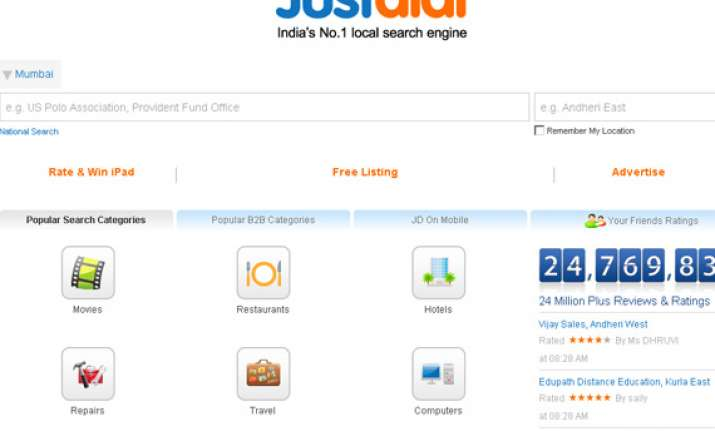 local search engine just dial ipo fully subscribed